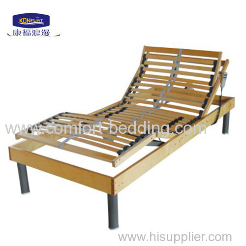 Birch wood electric bed base slat bed frame