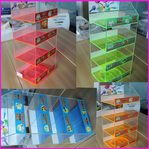 Wholesale Plastic Custom Perspex Transparent Clear iPhone Accessory Connecter Potatable USB Display Stand