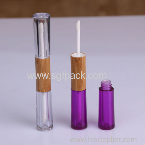 empty cosmetic packaging bamboo lipgloss/mascare/eyeliner bottle/lipstick tube make up container