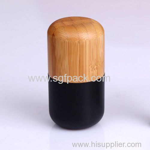bamboo black lipgloss/mascare/eyeliner bottle/lipstick bottle empty bamboo black cosmetic container