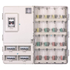 1601L high performance single pahse 16meters transparent electric meter box left-right structure