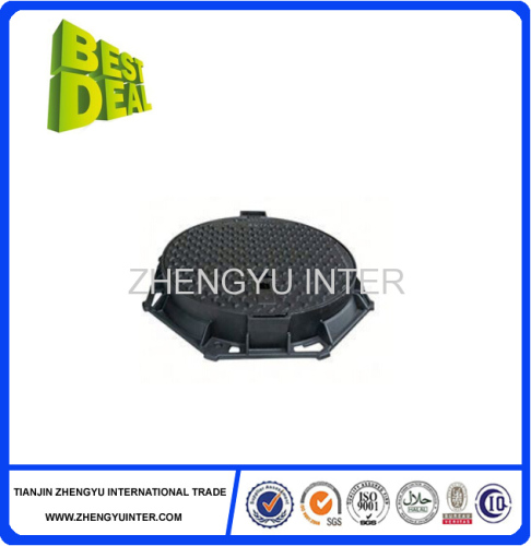 Hot sales good design round grey iron manhole cover casting parts