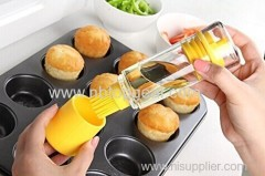 3-in-1 Super Silicone Oil & Vinegar Bottle & Basting Brush Dispenser
