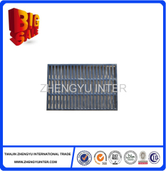 Resin sand grey iron rain water grating casting parts for construction
