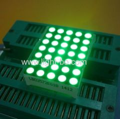 Pure Green dot matrix led display 5 x 7 Suitable for digital time zone clock display
