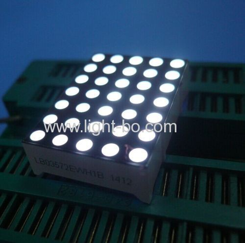"Ultra white 1.2"" 3mm 5 *7 Dot Matrix LED Display for moving signs display screen"