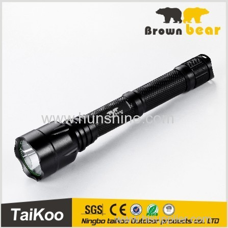 Nice head T6 LED tactical torch light baton
