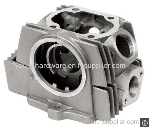 Machined motorcycle cylinder block