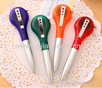 Multi-functional tapeline ball pen with metal clip