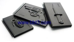 Promotional novel 3D PVC cover notebook