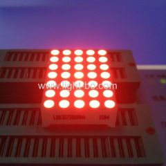 "Ultra Red 1.2"" 3mm 5 x 7 Dot Matrix LED Display for moving message signs /displays"