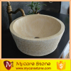 wholesale antique beige marble sink , bowl sink , washing basin