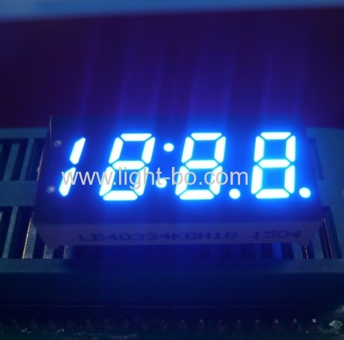 0.33Inch Four Digit 7 Segment LED Display Ultra Blue for Car Clock