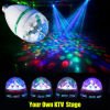 E27 220V 110V LED Light Bulb Colorful Auto Rotate RGB Party Stage Lamp 3W Disco