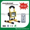 DC 12V 10w remote control outdoor rechargeable led flood light