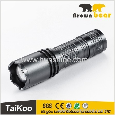 aluminum 0.5w led hunting self defensive flashlight with magnet