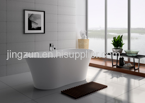 Freestanding Composite Resin Artificial Stone Bathtub