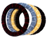 fur rubber molded car steering wheel cover