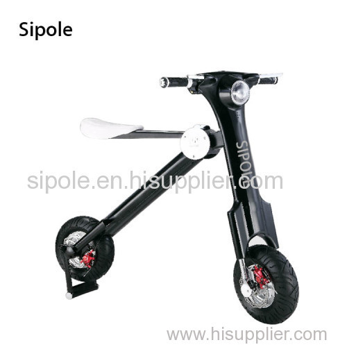 Sipole innovative fashion desgin twin wheel adults motocycle folding electric bicycle