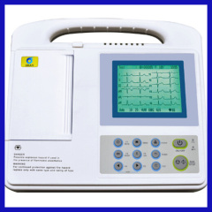 6 Channel 3.8 inch LCD portable ecg machine