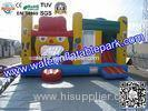 ODM Outdoor Inflatable Sport Games , PVC Inflatable House Bounce With Slide