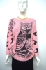 90%polyester 10%spandex women's feather yarn knitted pullover