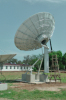 Ku-band / C-band satellite dish antenna