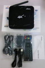 Best CR12 Android 4.4 quad core TV Box fully loaded XBMC add-ons 4K HDMI 2.4Ghz WiFi 2GB 8GB 2mpcamera H.265HDDgooglebox