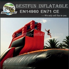 Inflatable bungee airbag trampoline park bouncer airbag for sale