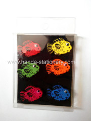 creative fish shape wooden magnets paper clips binder clip