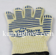 100% aramid heat resistant Oven Gloves household gloves Silicon BBQ gloves