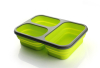 Square silicone foldable lunch box food grade food container