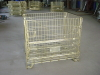 Wire steel storage container cage pallet