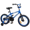 Tauki AMIGO 16 inch Kid Bike With Removable Training Wheels, Coaster Brake, for Boys and Girls, Blue