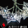 10L silver iron star cold white LED string decorative light