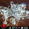 20L plastic strip ball cold white LED string decorative lights