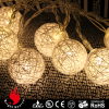 10L white cotton ball warm white LED string decorative lights