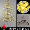 Yellow Blossom Flowers Outdoor Lighted Christmas Tree