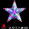 lighted star tree topper for Christmas tree decoration