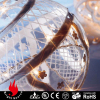 decorative christmas lights led clear glass ball ornaments