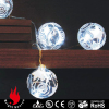 clear glass christmas balls with white led lights