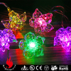 10L acrylic flower multi color LED string decorative lights