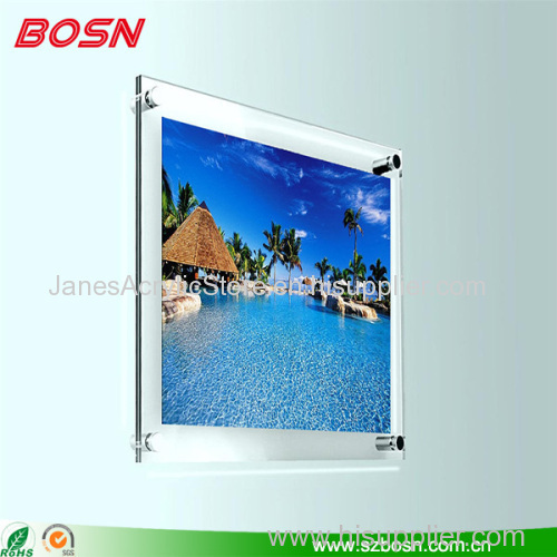 Acrylic photo frame picture display with fashion design outlook