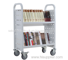 Library single-sided sloped book cart RCA-2S-LIB15