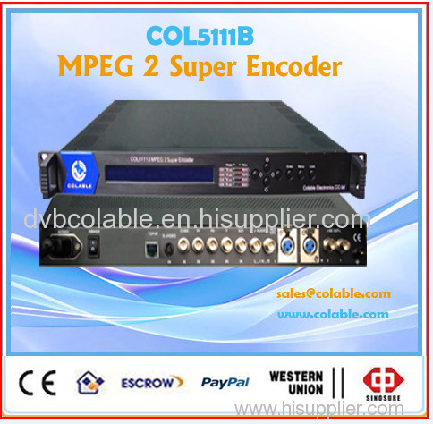 Mpeg2/H.264 HD single encoder AV HDMI in with IP udp spts unicast multicast out