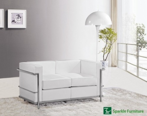 Le Corbusier LC2 loveseat sofa(2 seater)