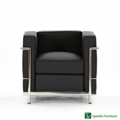 Le Corbusier LC2 armchair sofa (1 seater)