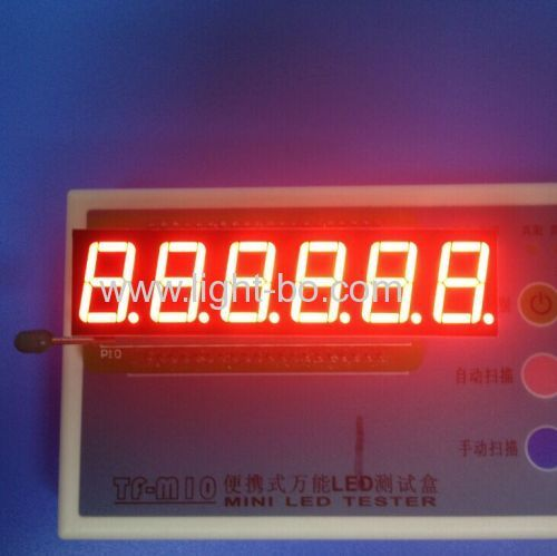 "Custom super bright red 6 digit 0.56"" 7 segmnet led display for digital weighing scale indicator"
