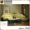 Classic solid wood frame sofa sectional leather sofa