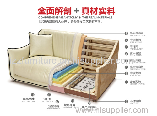 Bamboo Furniture Leather Sofa
